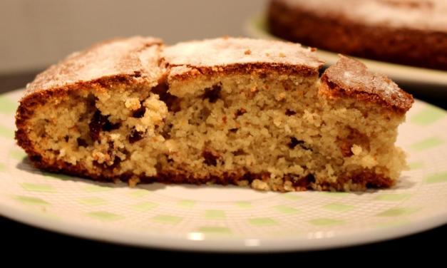 Torta con farina di avena e mirtilli secchi