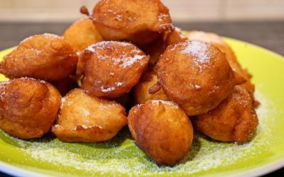 Frittelle di patate dolci, aspettando il carnevale