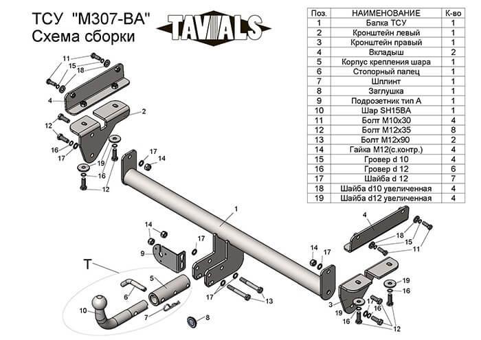 Купить Фаркоп для MAZDA CX-7 2007-2012 c быстросъемным