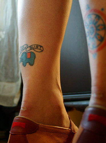 robyn's tattoo. I never found out the significance of the elephant or the