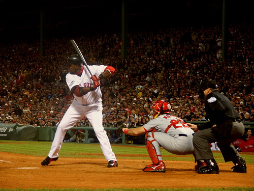 Big Papi at the plate (doogin/flickr)