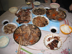 Chinese Christmas dinner