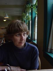 Brenda at Cafe Window