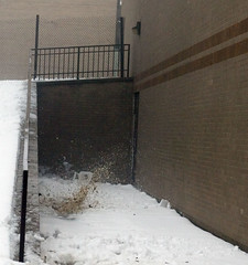 """671B4117: Snow From Roof Hitting the Ground • <a style=""""font-size:0.8em;"""" href=""""http://www.flickr.com/photos/54494252@N00/15268651/"""" target=""""_blank"""">View on Flickr</a>"""