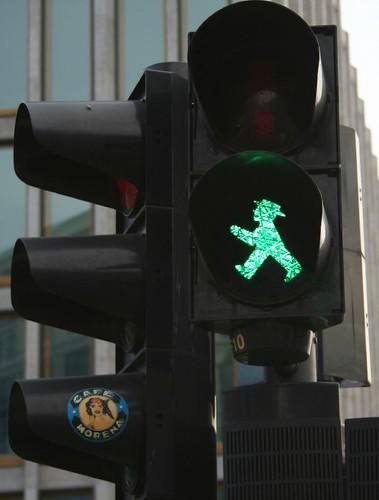 le petit bonhomme vert des feus rouges de Berlin