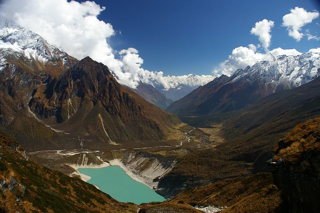 Birendra Tal, a glacial lake below Manaslu base camp