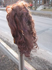 Found Wig On Pole