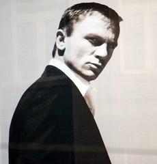 Daniel Craig's looking at me, and I don't thin...