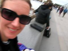 Self portrait--taking a break outside the Louvre on My Day Alone in Paris
