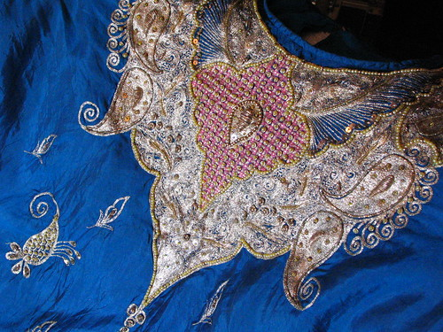 Embroidery and beading on salwar kameez by litlnemo.