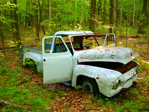 White Ford F100 Truck by CopperGecko.