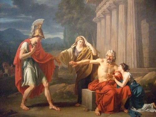 Oedipus at Colonus by Jean-Antoine-Theodore Giroust 1788 French Oil (5)