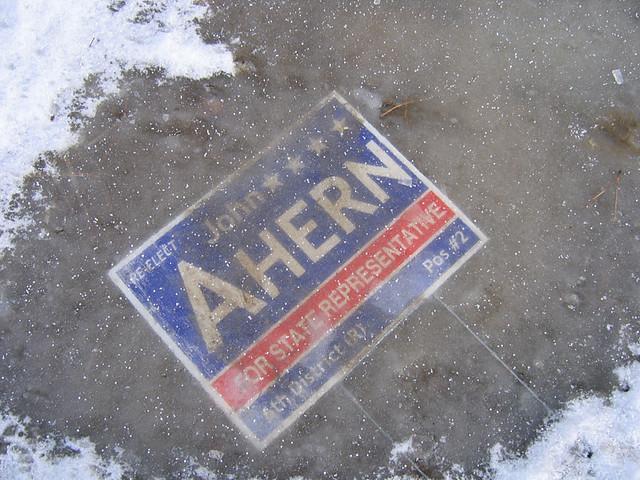John Ahern under ice