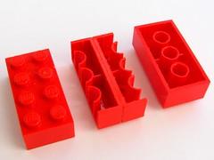 Inside-out Lego brick