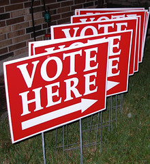 Vote Here: Signs used last election day