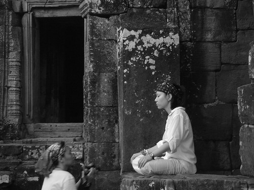 "Photo credit: ""Meditation at Bayon"" by willposh"