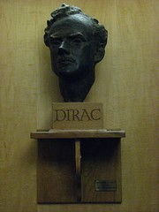 Bust of Dirac, St John's College, Cambridge