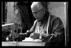 Grandpa Sewing
