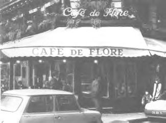 Cafe de Flore Paris 1971