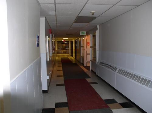 MassVac9 dark exit hallway