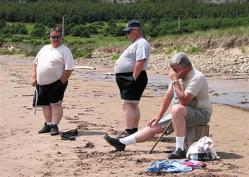 Three Men in Shorts
