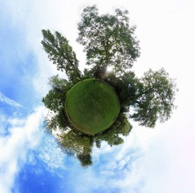 Notting Hill garden little planet - Photo : strollerdos
