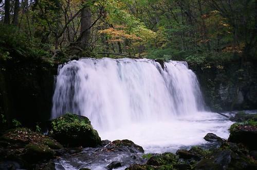 奧入瀨溪的瀑布...
