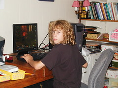 Andrew playing WoW