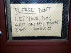 Funny sign outside apartment