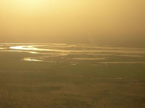 Photo aérienne du Delta du Niger au Mali