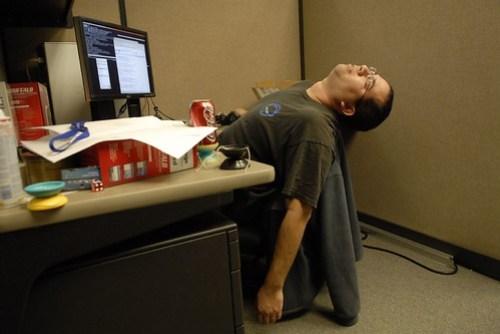 Gary had a long night