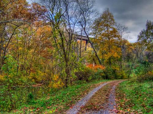 Trestle in the Autumn Sky