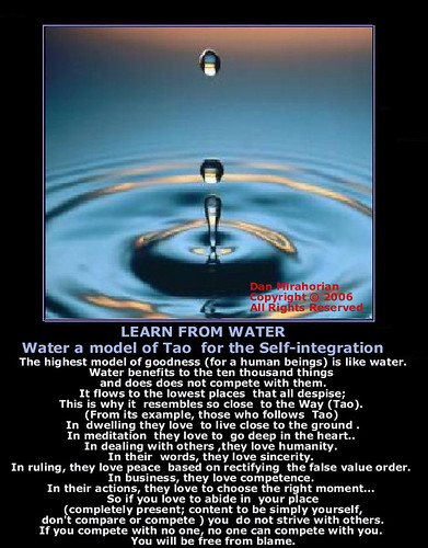 LEARN FROM WATER Lao Tzu 8