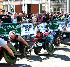 London Marathon - wheelchair competitors