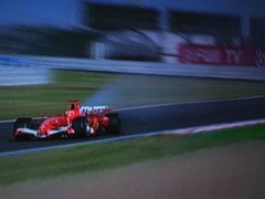Michael Schumacher's engine blows - handing the 2006 F1 World Championship to Fernando Alonso