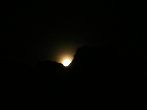 Moonrise over the Peaks