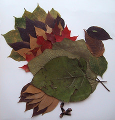 Turkey made of leaves