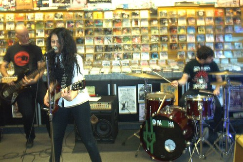 HiLL live! in-store performance at Music Trader on November 24 2006