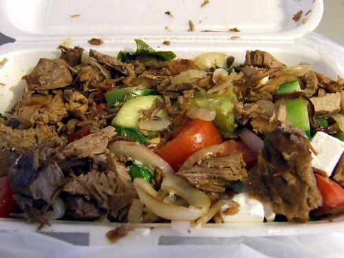 Warm Greek salad