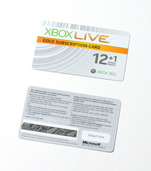 Xbox Live Subscription Card