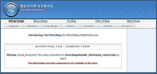 BlogPatrol_ConnectionError