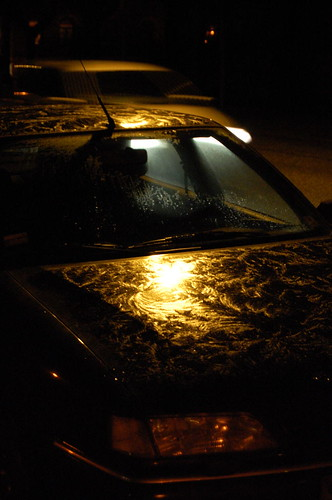 Glazing on a car