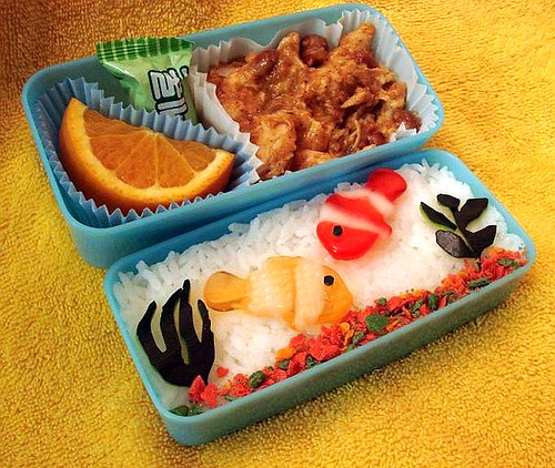 Auqarium Bento by Sakurako Kitsa on Flickr