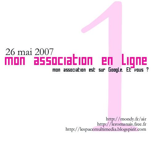 Mon association en ligne, formation du 26mai2007