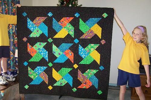 Bright Crosses Quilt