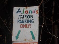 Alana's parking