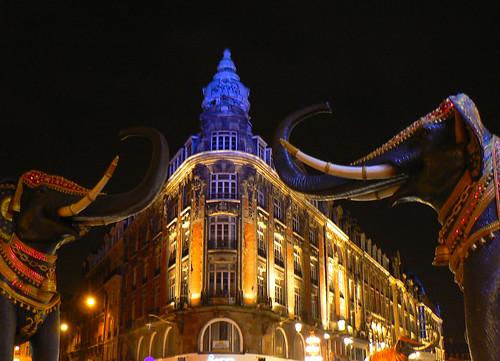 Lille, Avenue Faidherbe, by night
