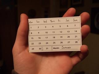 Calendar Card - January