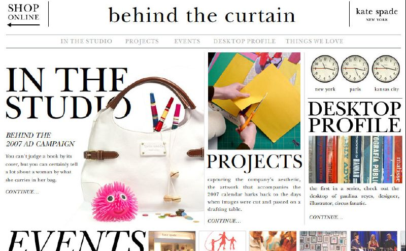 Paulina Reyes + Kate Spade's Behind The Curtain