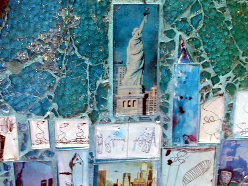 Lovely Mosaic Artist – Ellen Blakeley – Tempered Glass Mosaic Mural – San  UB01